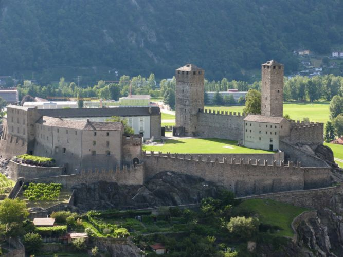 Switzerland Fortress Bellinzona Cities castle wallpaper