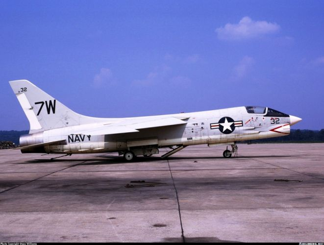 aircrafts army Fighter jets USA marine Vought F-8 Crusader wallpaper