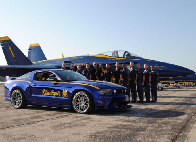 Ford Mustang GT blue angel edition wallpaper
