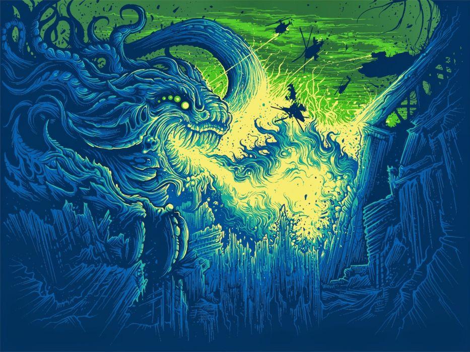 DanMumford-Hail-Destroyer-Dragon-Fire wallpaper
