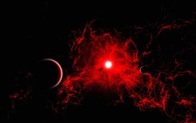 planet red space sun wallpaper