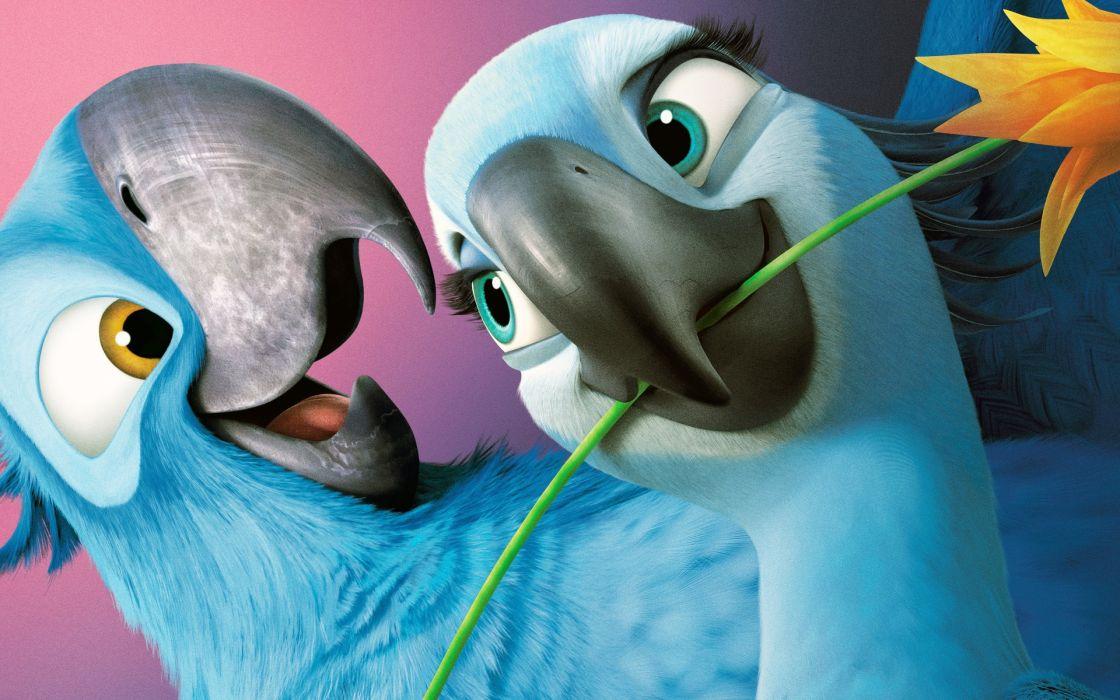 Rio birds smile flower movie wallpaper