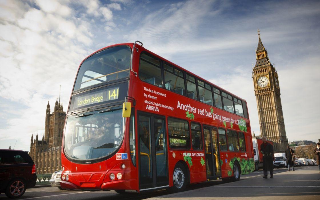 Bus Doubledecker London Big Bean Sky Town Wallpaper 2560x1600