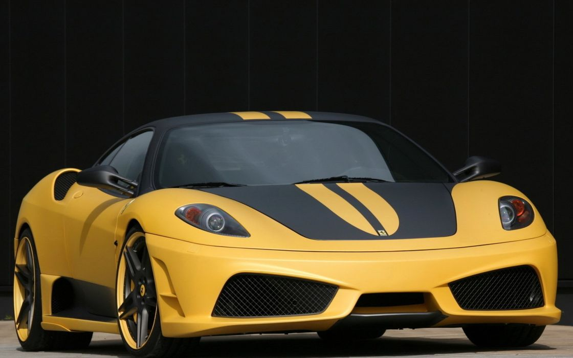 ferrari yellow sport black car wallpaper