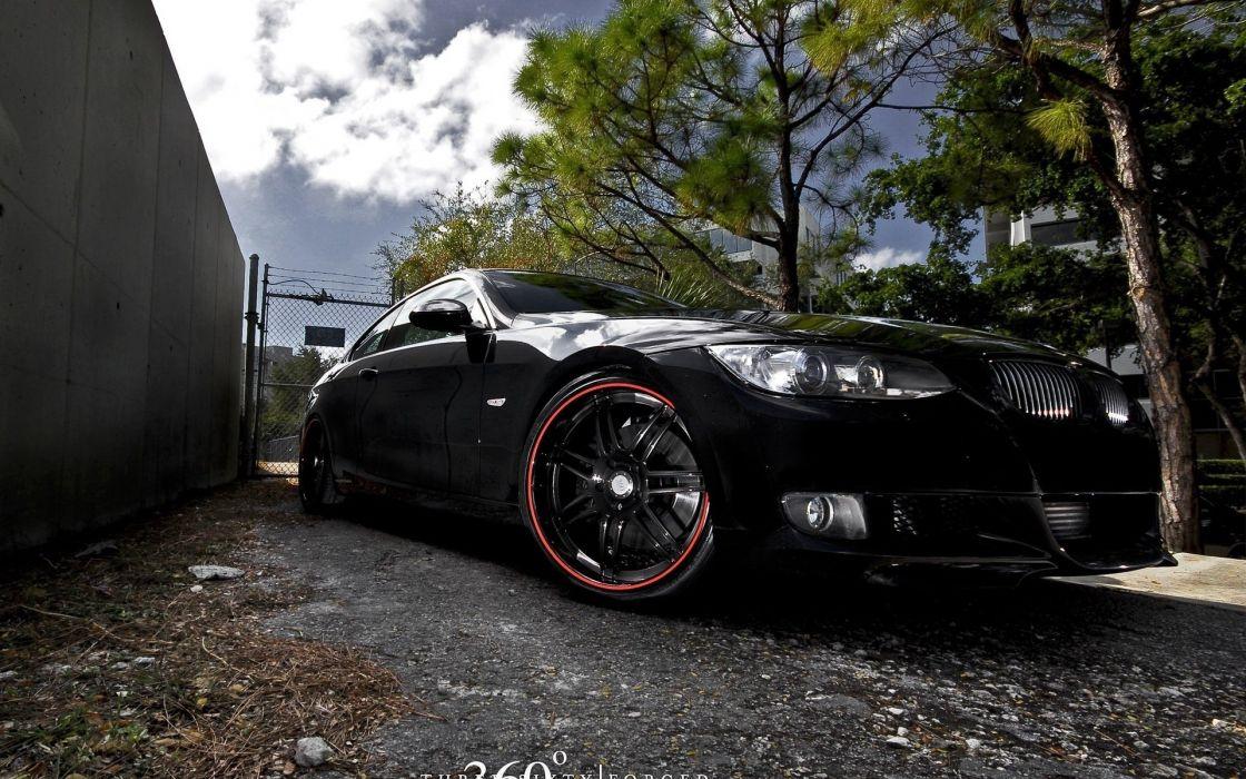 bmw tuning black car wallpaper