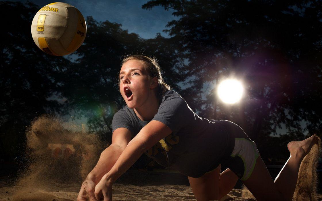 voleybal girl sport beach ball wallpaper