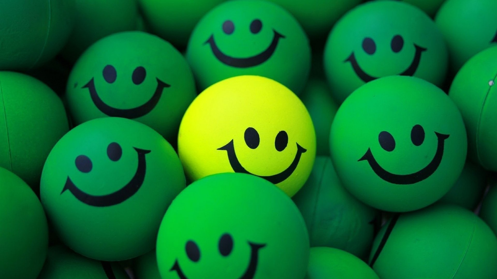 Balls green yellow smiles happy wallpaper | 1920x1080 | 438104 | WallpaperUP