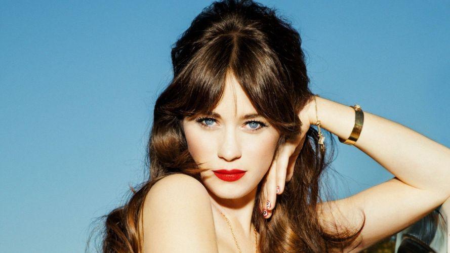 woman sweet beauty blue eyes lips red lovely wallpaper