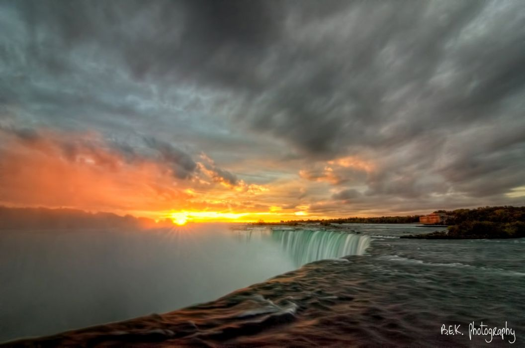 Canada forest jungle river rocks Stones waterfalls niagara wallpaper