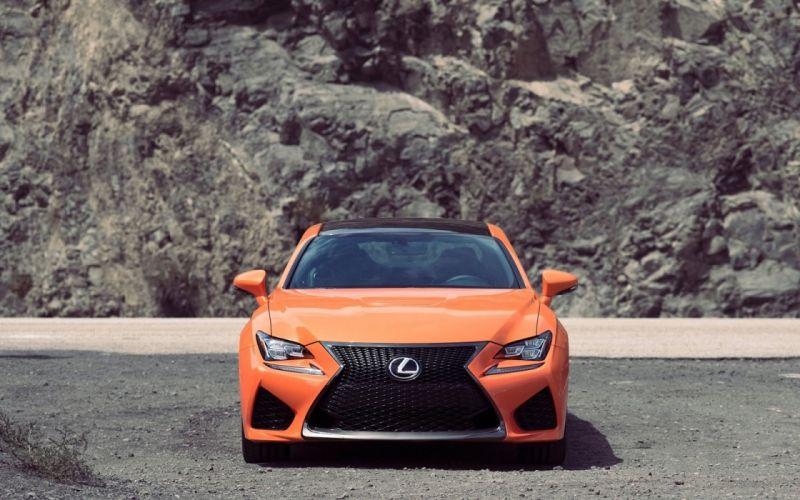 2015 orange cars Coupe Lexus rc f wallpaper