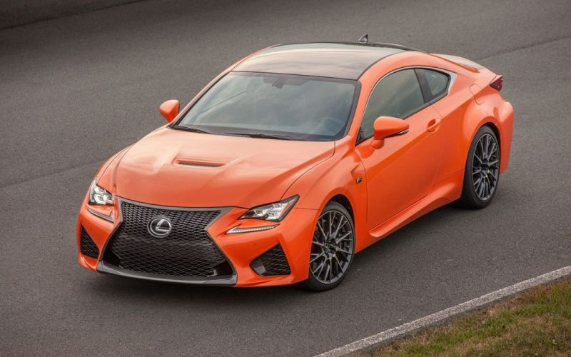 2015 orange cars Coupe Lexus rc f wallpaper