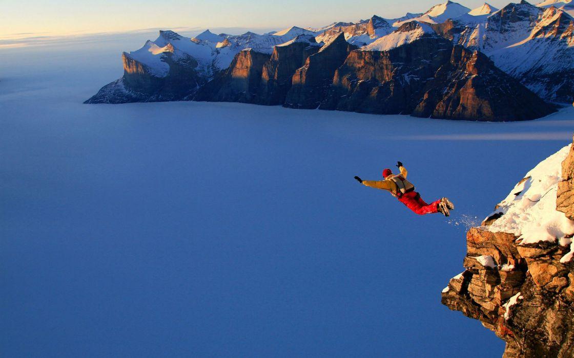 mountain nature jumo glaider sport extreme wallpaper