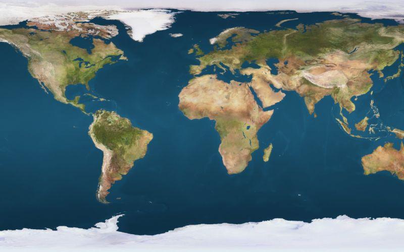 earth map ocean continents wallpaper