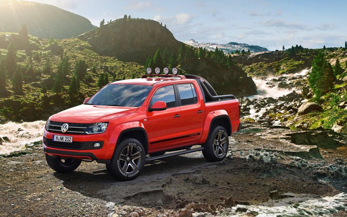 Volkswagen Amarok suve red 4x4 wallpaper