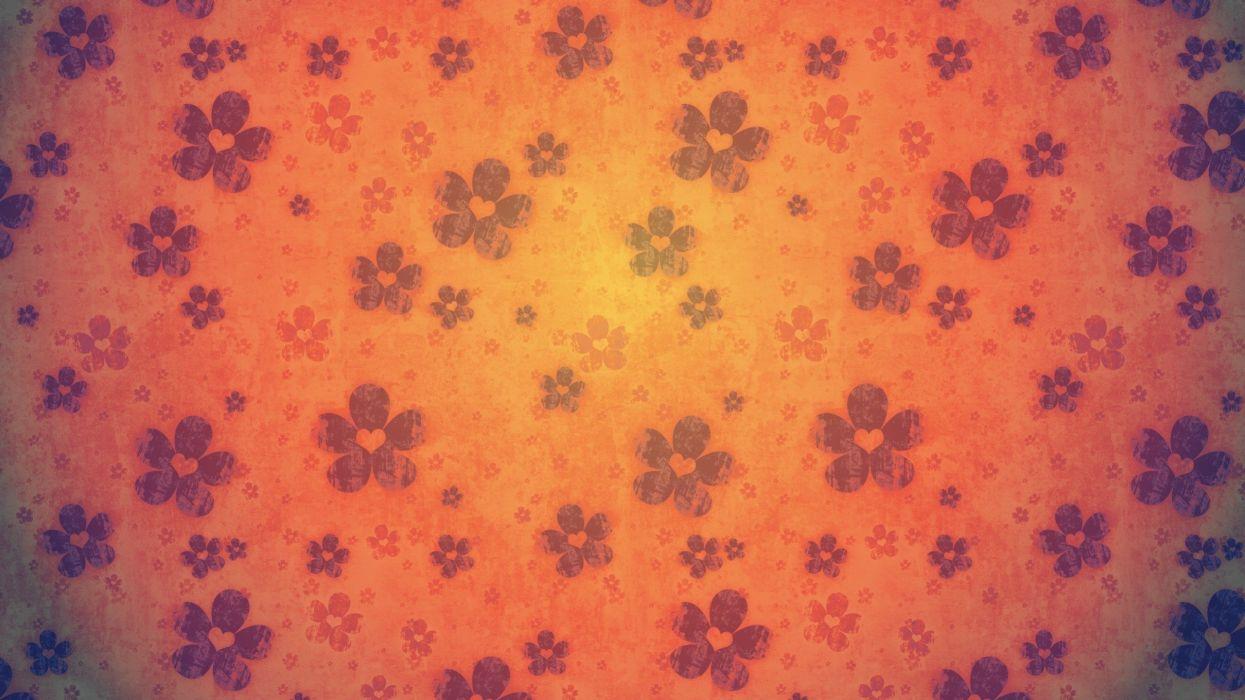 texture flowers orange purple wallpaper