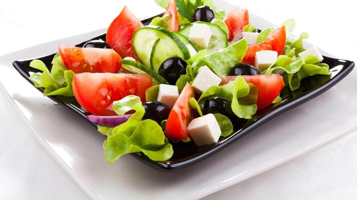 food vegetables tomato salat wallpaper
