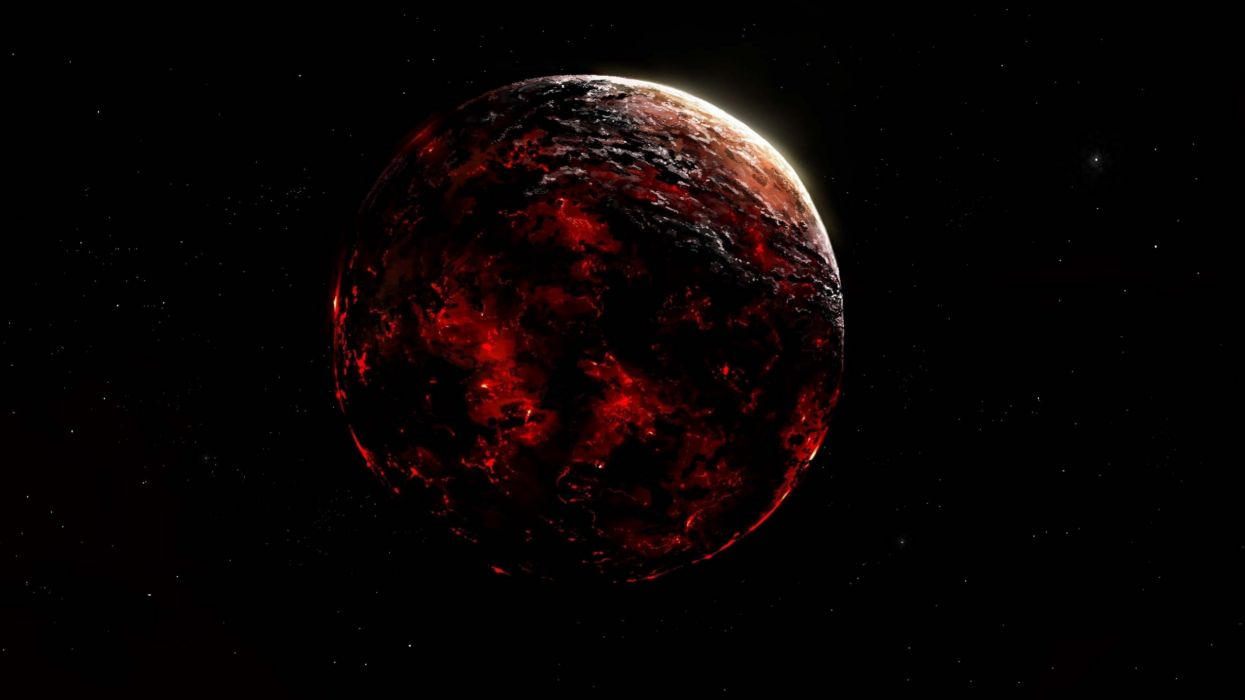 red giant planet space sun wallpaper