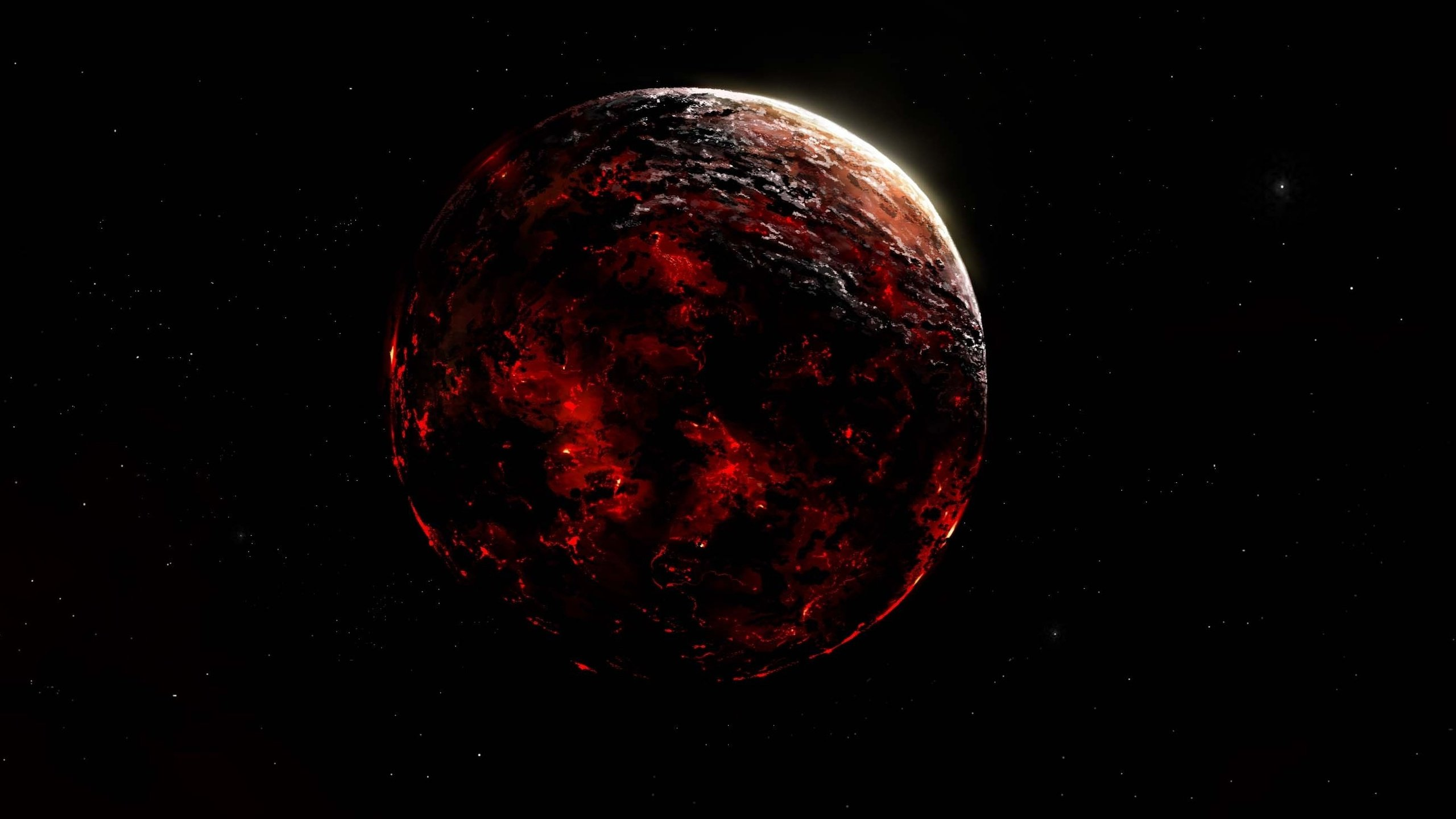 Red giant planet space sun wallpaper | 2560x1440 | 438404 ...