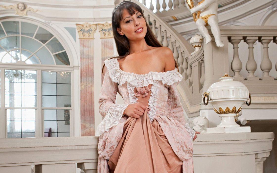 beauty elegant true woman sweet dress attractive wallpaper