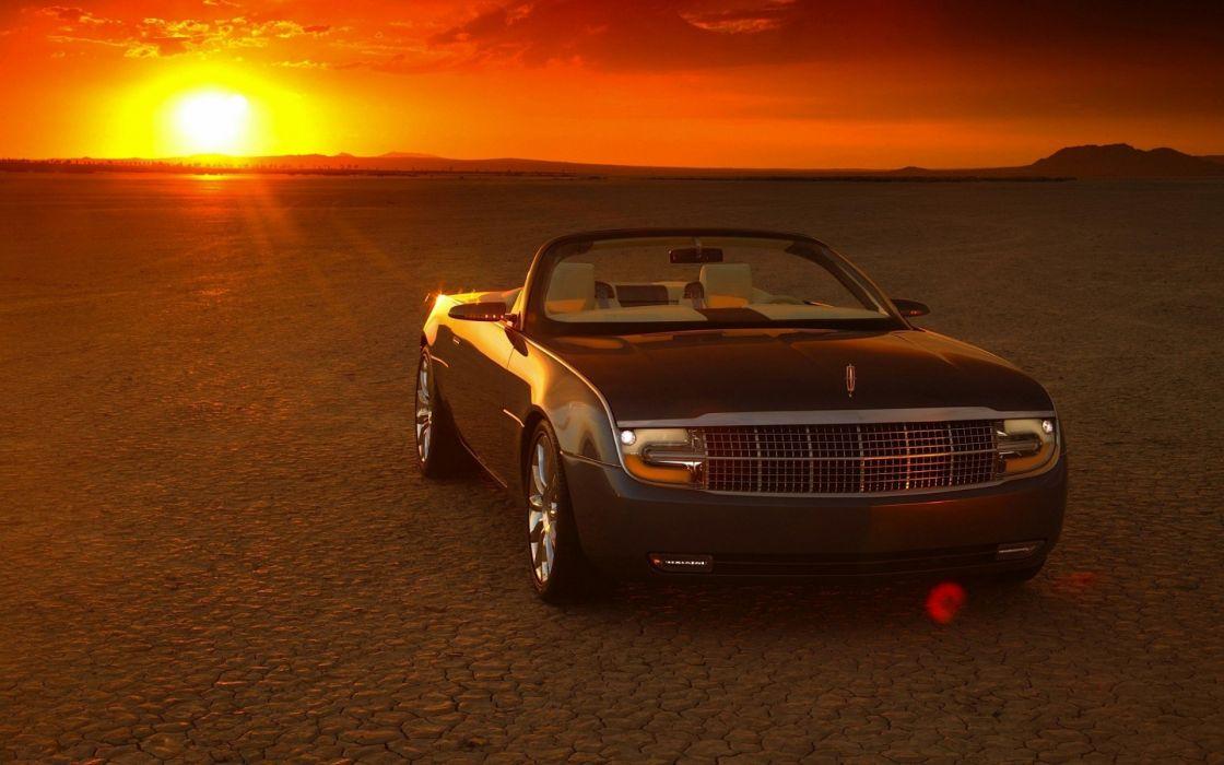 lincoln car sunset convertibile wallpaper