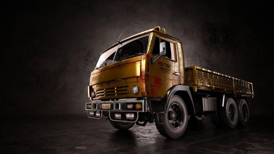kamaz truck russian big wallpaper