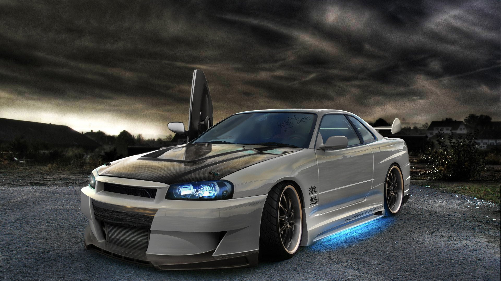 nissan skyline gtr r34 tuning wallpaper 1920x1080 438455 wallpaperup. Black Bedroom Furniture Sets. Home Design Ideas