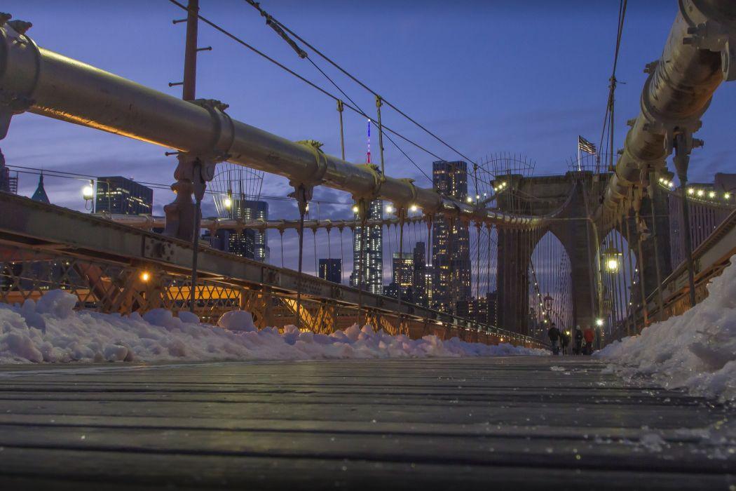 bridge bridges brooklyn cities City Intel rivers new York manhattan night light wallpaper