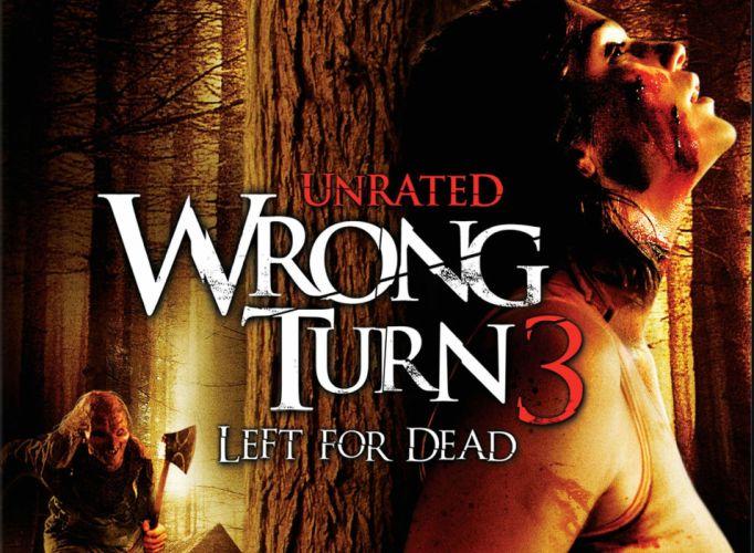 WRONG TURN horror thriller monster dark wallpaper