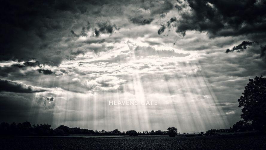 heavens gate clouds sky sunrise wallpaper