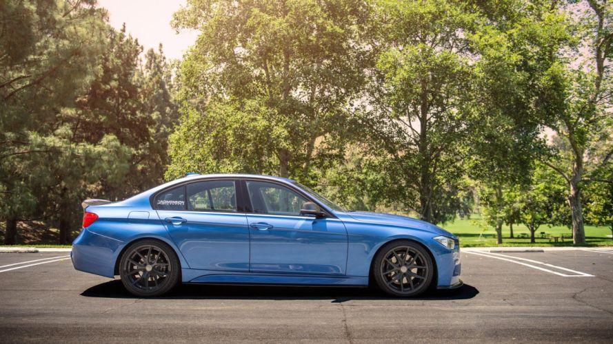 BMW car tuning blue wallpaper