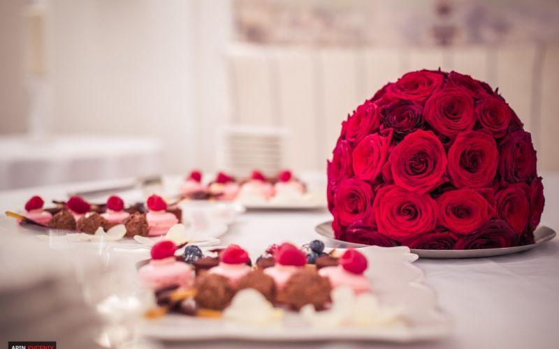 roses decoration food cakes sweet wallpaper