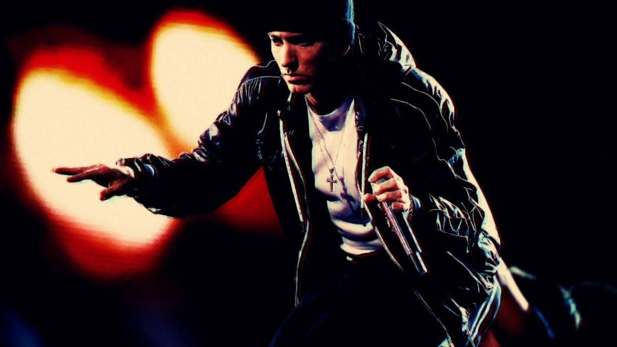 Eminem rap slim shady slimshady legend marshal mathers stage mic wallpaper