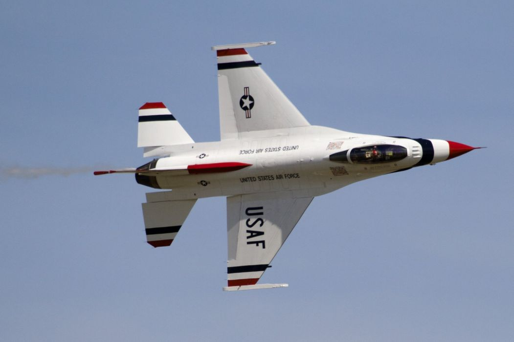 U S A F Thunderbirds F-16 Fighting Falcon Fighter army jet aircrafts acrobatic wallpaper