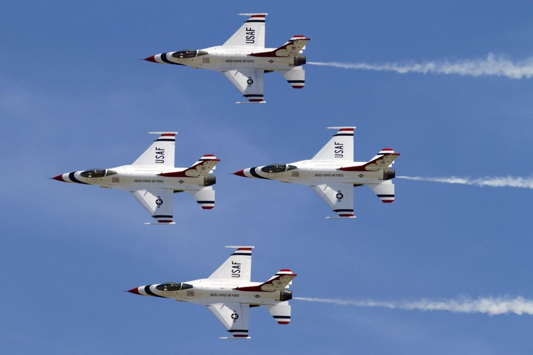 acrobatic aircrafts army f 16 Falcon Fighter Fighting jet thunderbirds wallpaper