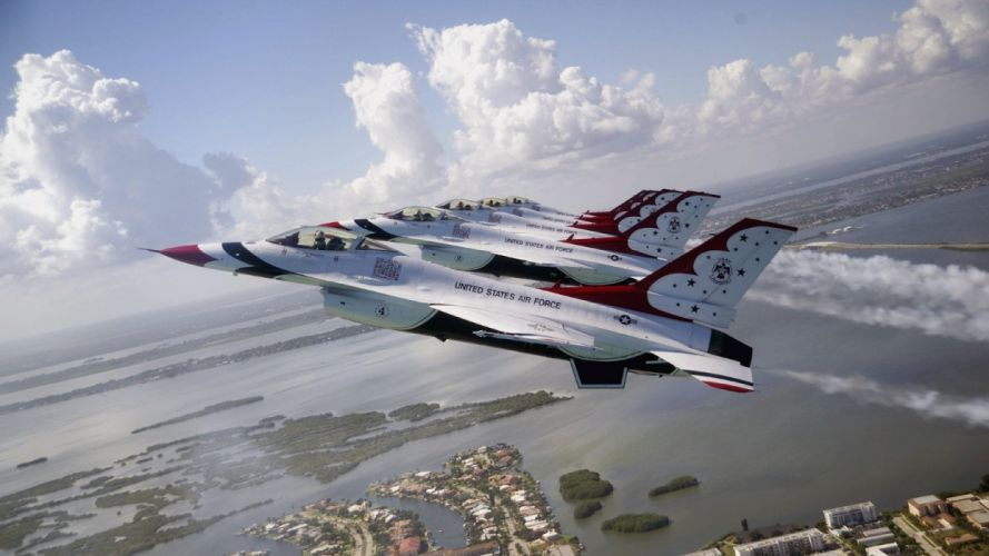 acrobatic aircrafts army Falcon Fighter Fighting jet thunderbirds wallpaper