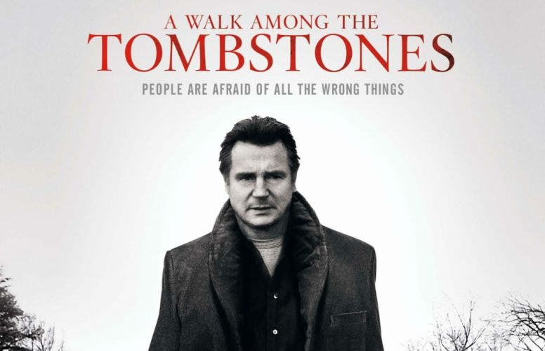 WALK AMONG TOMBSTONES crime thriller mystery wallpaper