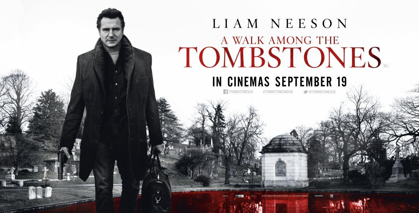 WALK AMONG TOMBSTONES crime thriller mystery wallpaper