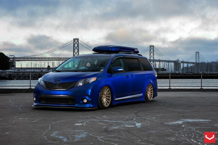 vossen wheels tuning Toyota Sienna wallpaper