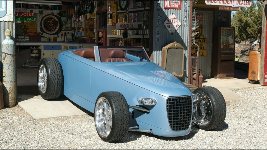 Hot Rod car blue cars coustom vehicle wallpaper