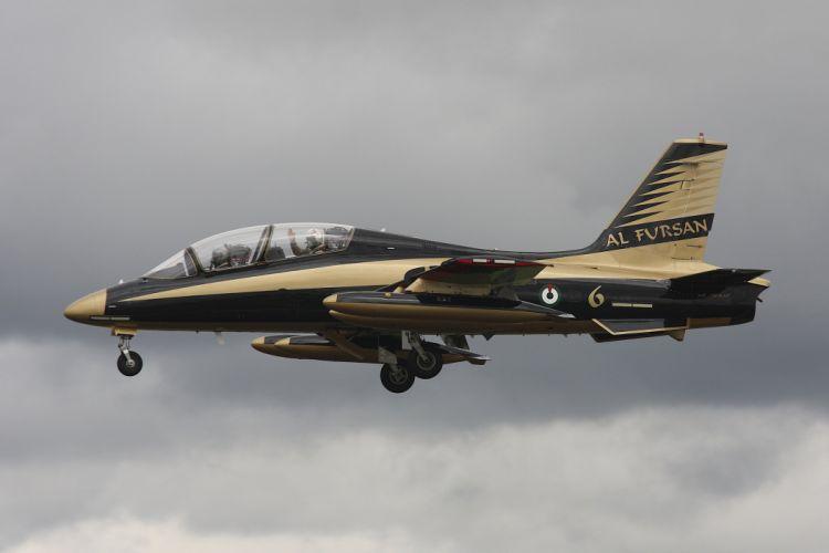 Aermacchi MB-339NAT Al Fursan Jet Team acrobatic United Arab Emirates aircrafts wallpaper
