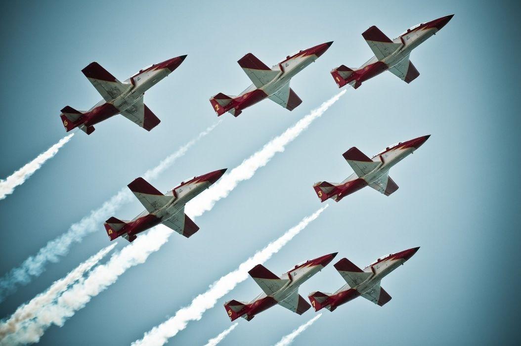 CASA C-101 Aviojet Patrulla AEguila Jet Team acrobatic spain aircrafts wallpaper