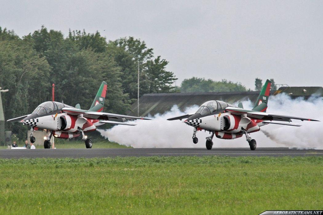 Alpha Jet A-attack Asas de Portugal Jet Team acrobatic  wallpaper