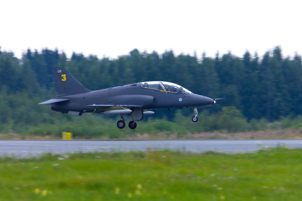 Finland BAE Hawk Midnight Hawks Jet Team acrobatic aircrafts wallpaper