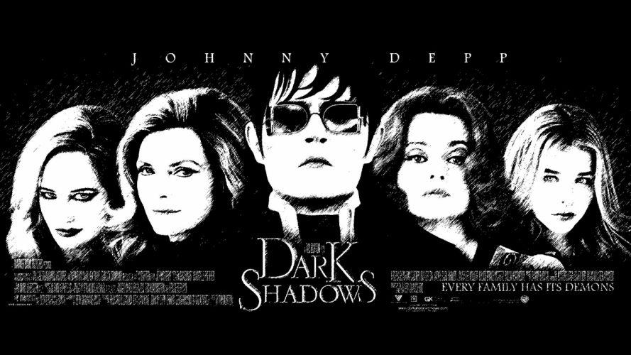 DARK SHADOWS comedy horror vampire depp wallpaper
