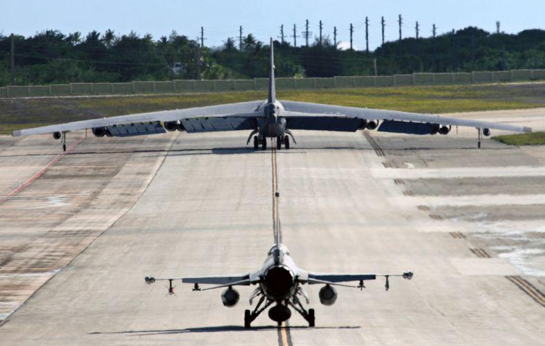 Boeing B-52 Stratofortress strategic bomber United States Air Force nasa aircrafts wallpaper