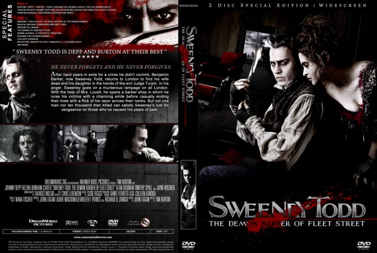 SWEENEY TODD Demon Barber Fleet Street musical thriller drama horror wallpaper