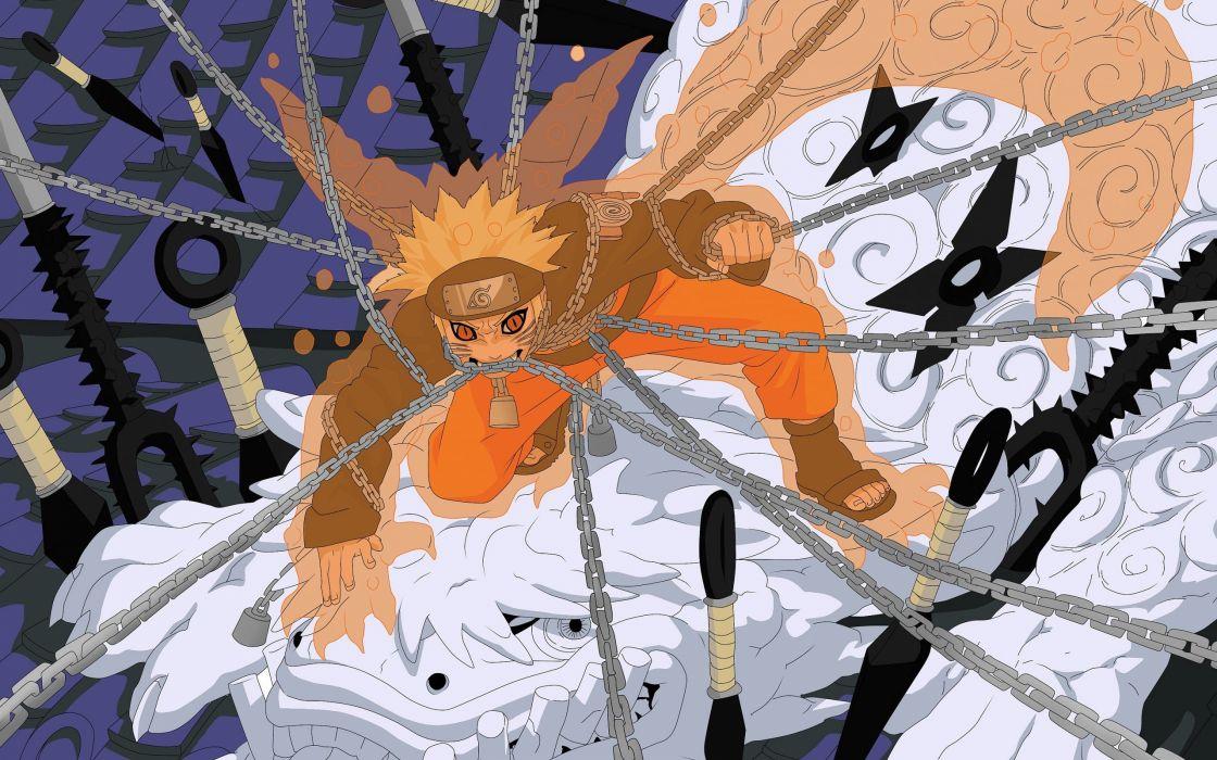 naruto anime character chains wallpaper