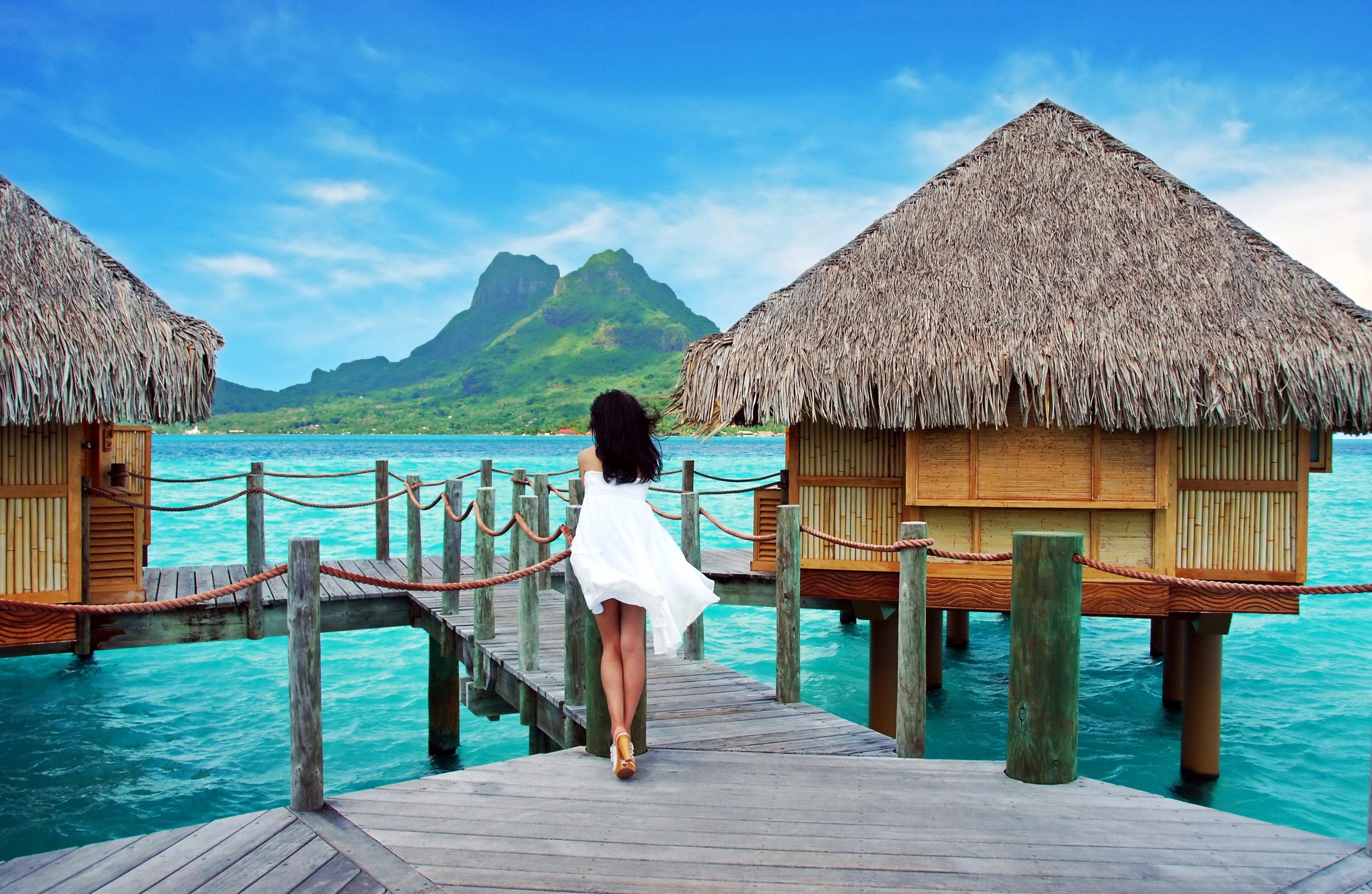 Tropical Ocean Pier Sea Palms Summer Beach Paradise Vacation Mood Wallpaper 3580x2334 441385 Wallpaperup