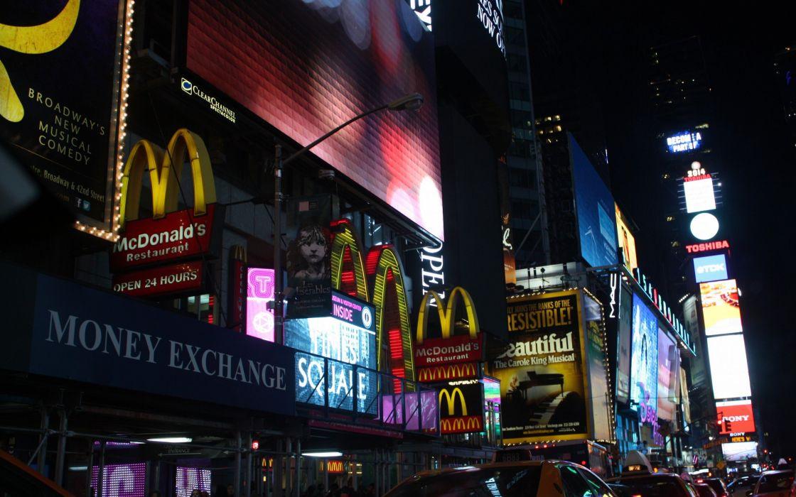 town street lights night wallpaper