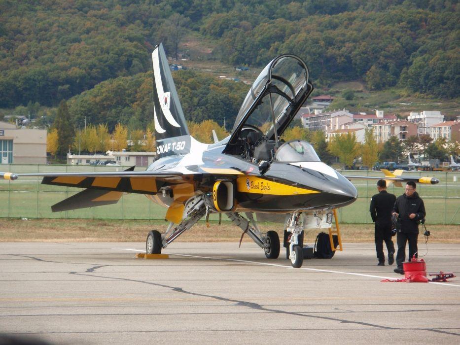 Air aircrafts Black Eagles aerobatic team T-50 Golden Eagle South Korean jets wallpaper